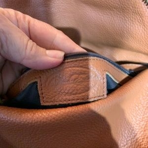 Onna Ehrlich brown pebbled leather Hobo Purse
